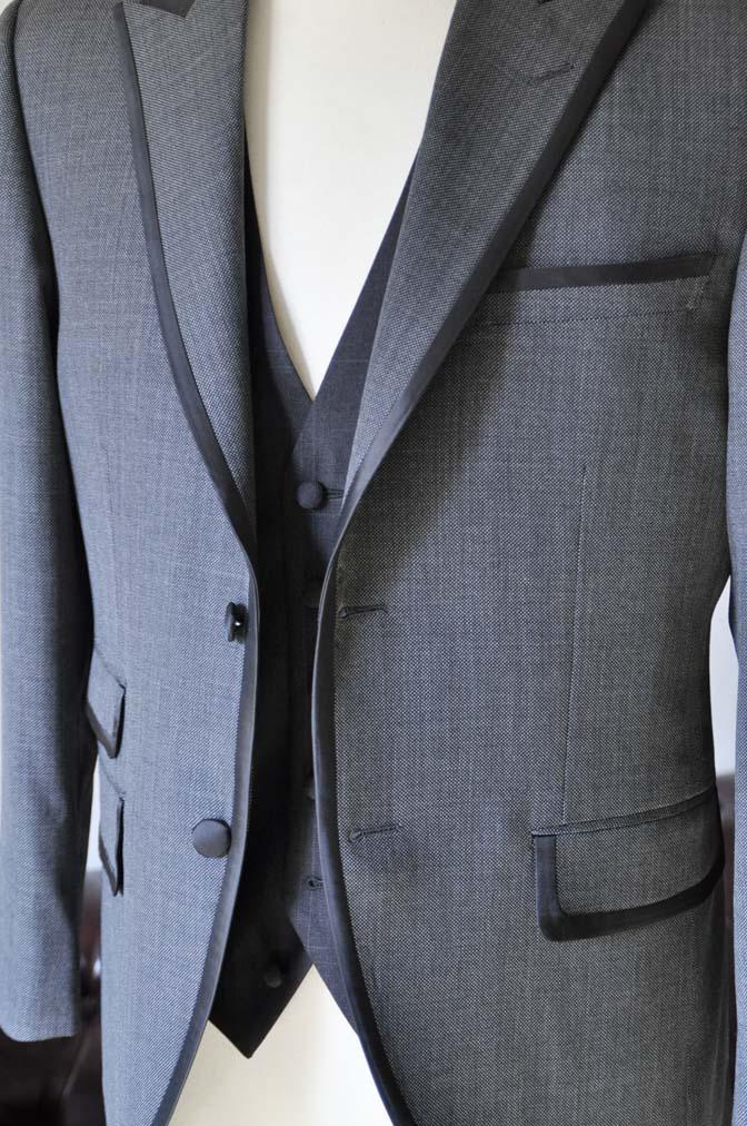 DSC0387-2 お客様のウエディング衣装の紹介-Biellesi グレーパイピングジャケット- 名古屋の完全予約制オーダースーツ専門店DEFFERT