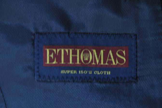DSC03881 お客様のジャケットの紹介-E.THOMAS 無地ネイビーツイル ジャケット-