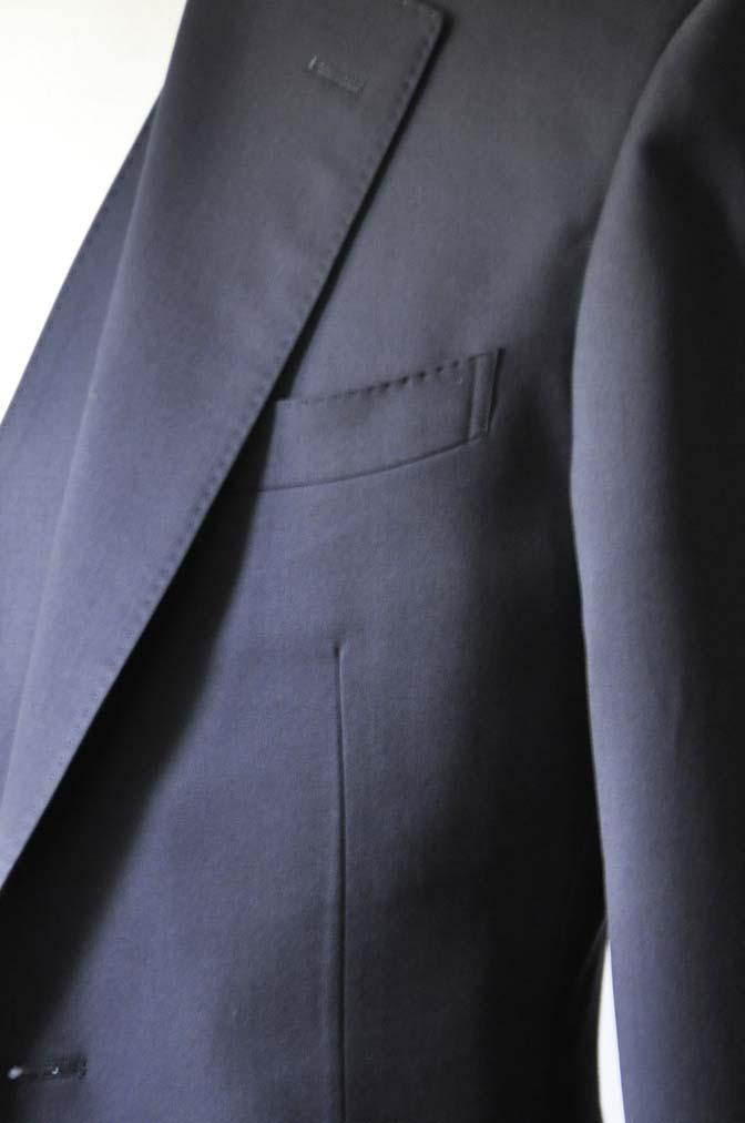 DSC0391-2 お客様のスーツの紹介-無地ネイビースリーピーススーツ-