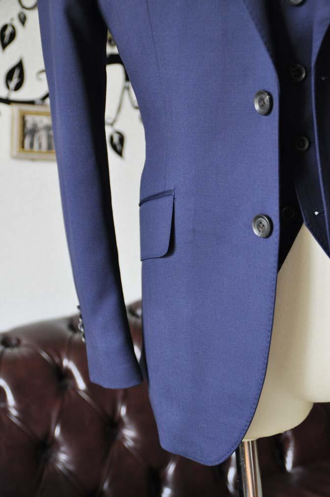 DSC0392-1 お客様のスーツの紹介-Biellesi無地ネイビー  スリーピーススーツ-