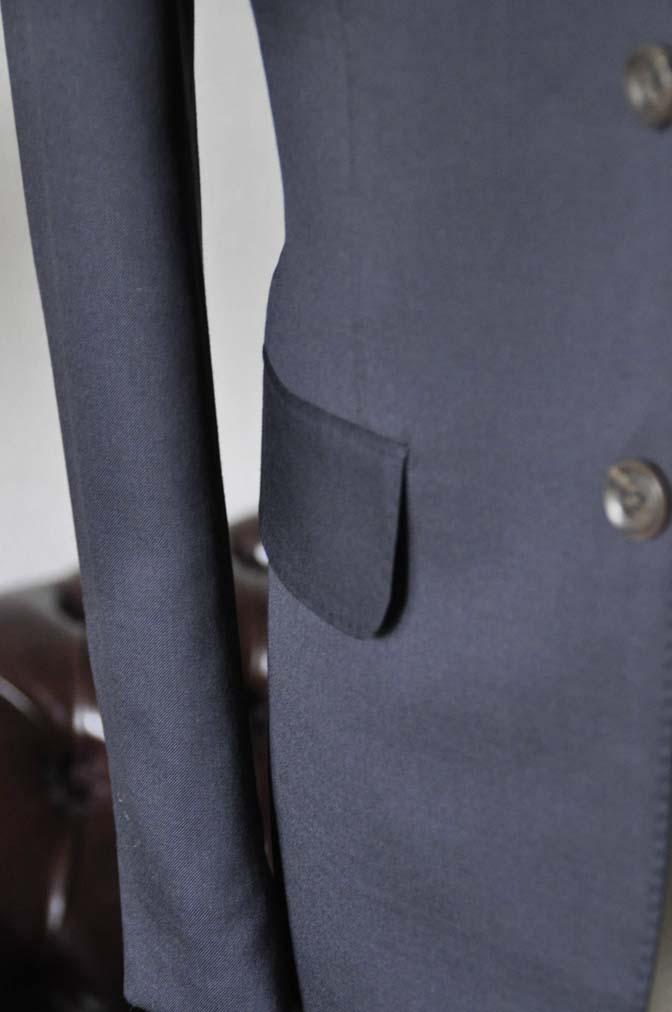 DSC0393-1 お客様のスーツの紹介-無地ネイビースリーピーススーツ- 名古屋の完全予約制オーダースーツ専門店DEFFERT