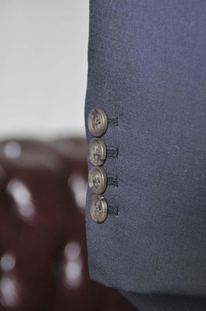DSC0394-1 お客様のスーツの紹介-無地ネイビースリーピーススーツ- 名古屋の完全予約制オーダースーツ専門店DEFFERT