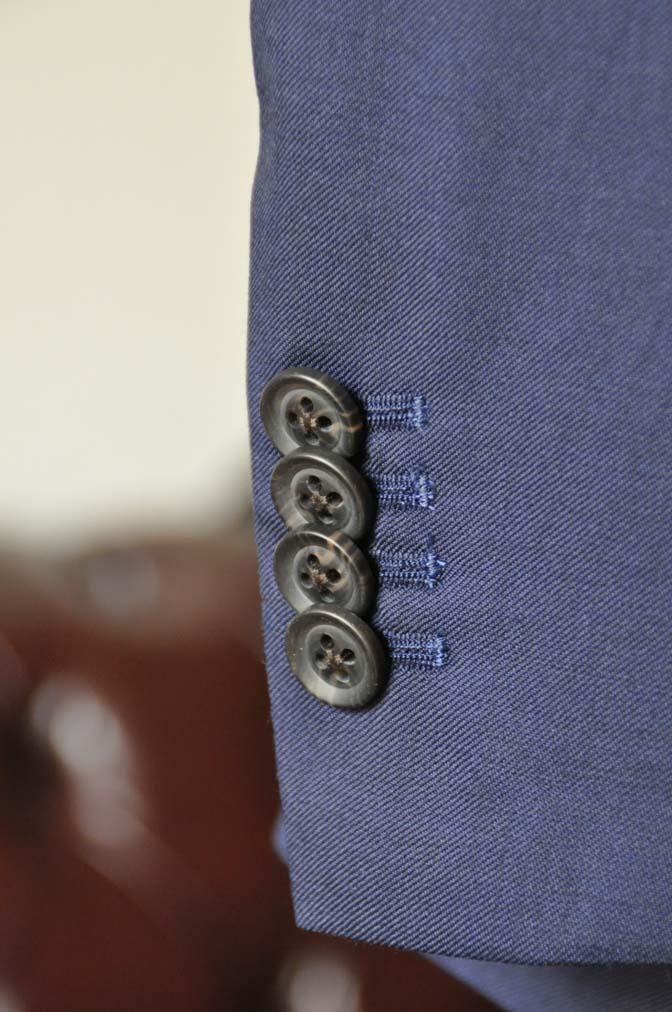 DSC0394-2 お客様のスーツの紹介-Biellesi無地ネイビー  スリーピーススーツ-