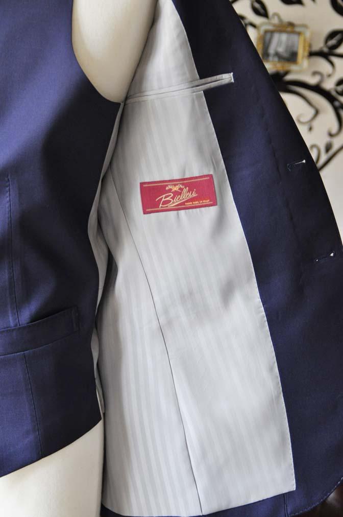 DSC0396-3 お客様のスーツの紹介-Biellesi無地ネイビー  スリーピーススーツ-