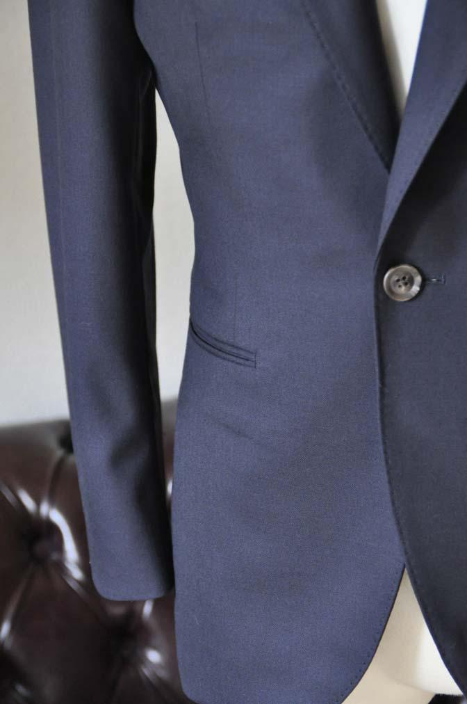DSC0398-1 お客様のスーツの紹介-無地ネイビースーツ-