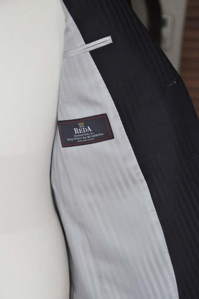 DSC03993 お客様のスーツの紹介- REDA ネイビーストライプ- 名古屋の完全予約制オーダースーツ専門店DEFFERT