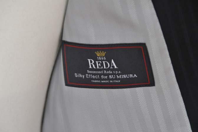 DSC04002 お客様のスーツの紹介- REDA ネイビーストライプ- 名古屋の完全予約制オーダースーツ専門店DEFFERT