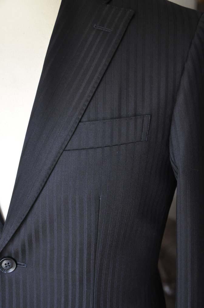 DSC04043 お客様のスーツの紹介- REDA ネイビーストライプ- 名古屋の完全予約制オーダースーツ専門店DEFFERT
