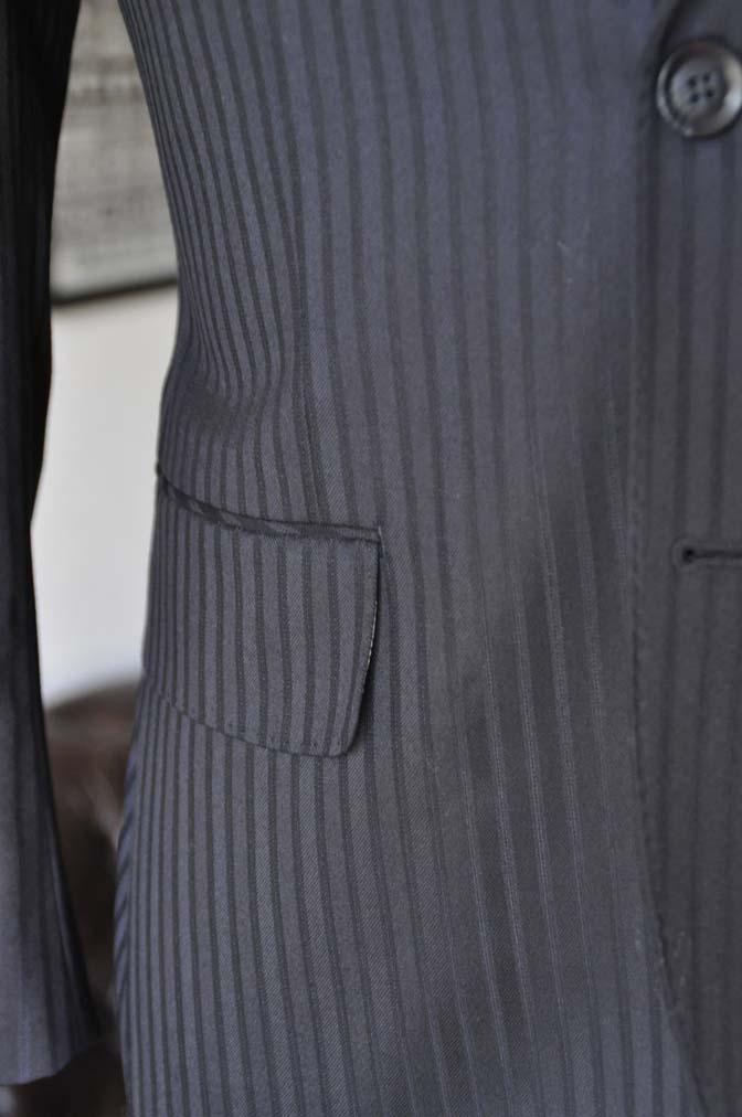 DSC04061 お客様のスーツの紹介- REDA ネイビーストライプ- 名古屋の完全予約制オーダースーツ専門店DEFFERT