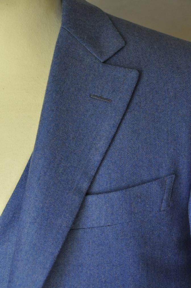 DSC04092 お客様のスーツの紹介-CANONICO ライトブルーフランネル ダブルジレのスリーピース- 名古屋の完全予約制オーダースーツ専門店DEFFERT
