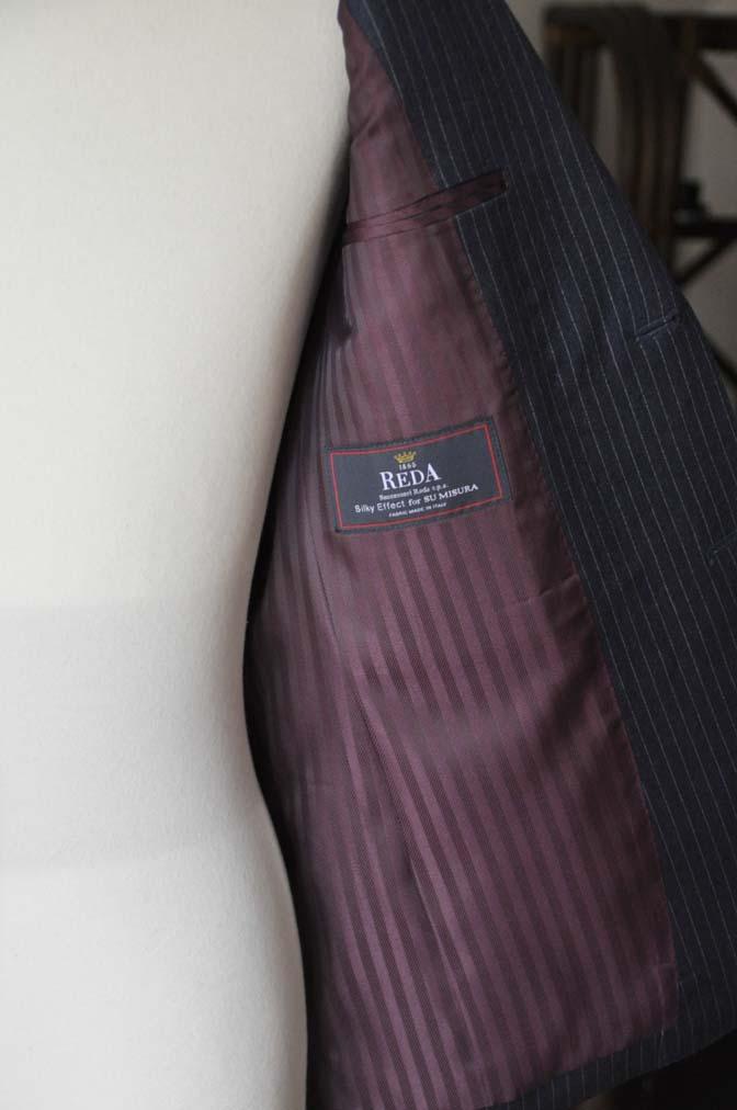 DSC04137 お客様のスーツの紹介- REDA ネイビーストライプスーツ-