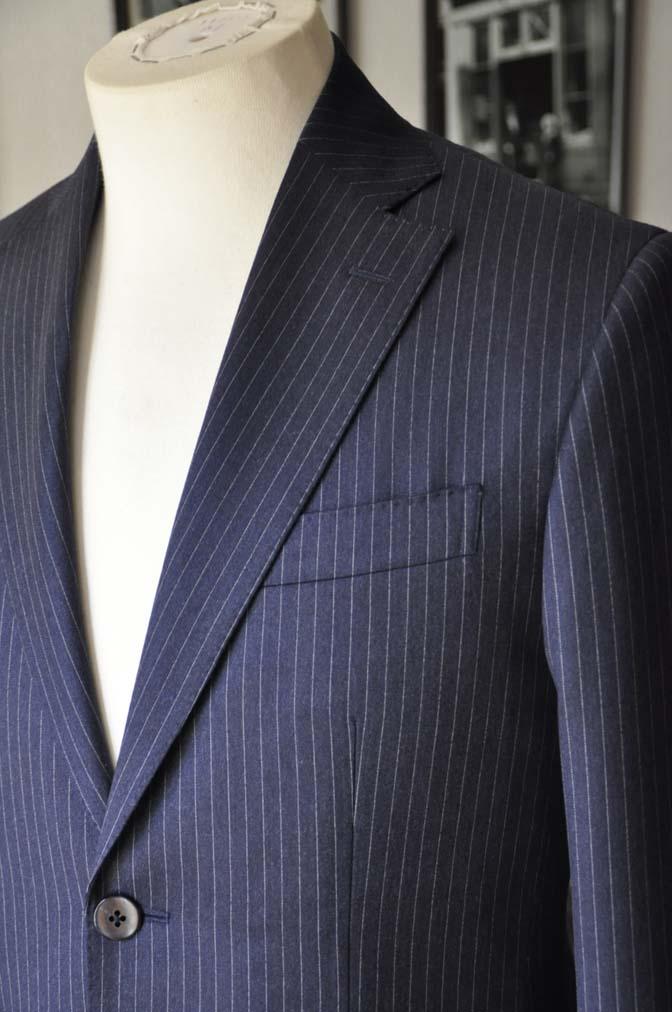 DSC04154 お客様のスーツの紹介- REDA ネイビーストライプスーツ-