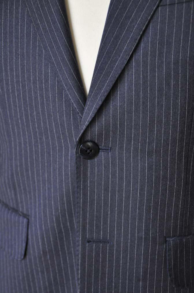 DSC04184 お客様のスーツの紹介- REDA ネイビーストライプスーツ-