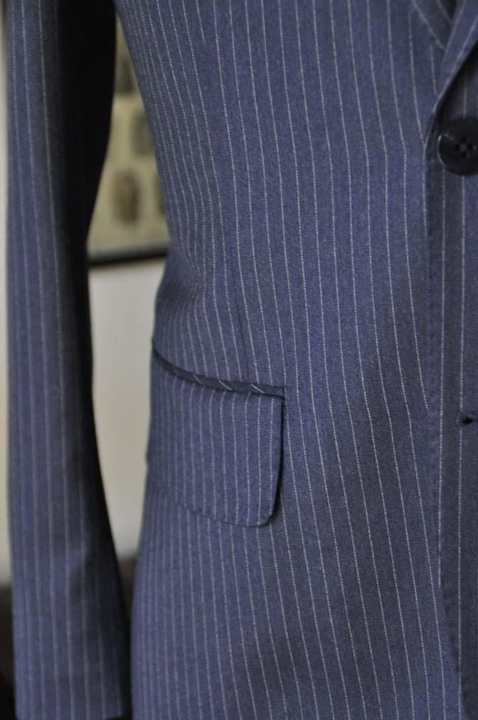 DSC04194 お客様のスーツの紹介- REDA ネイビーストライプスーツ-