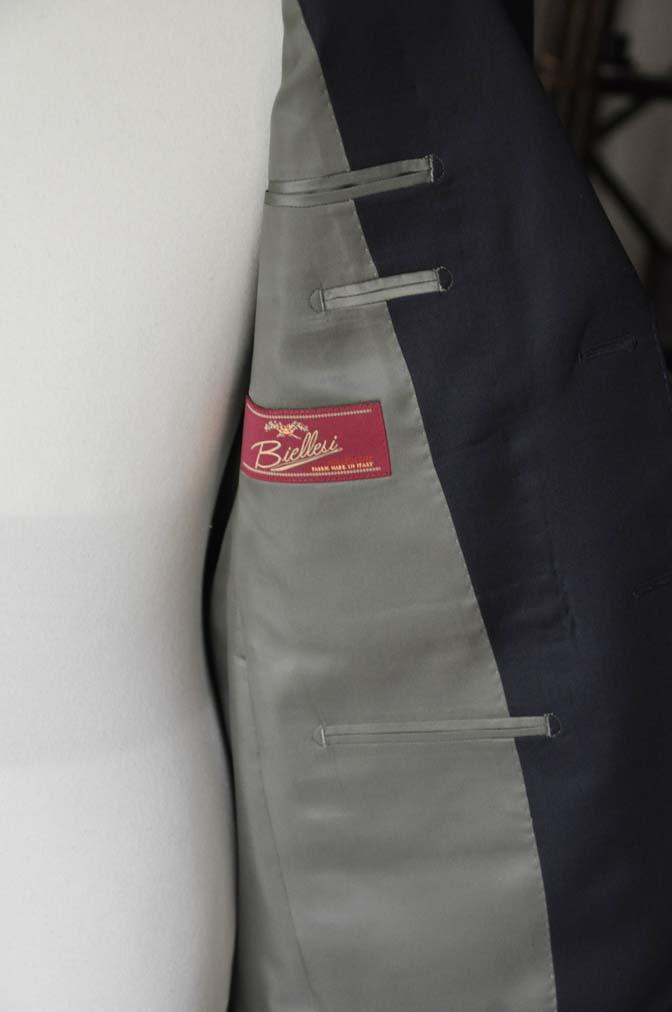 DSC04251 お客様のスーツの紹介- Biellesi 無地ネイビースーツ-