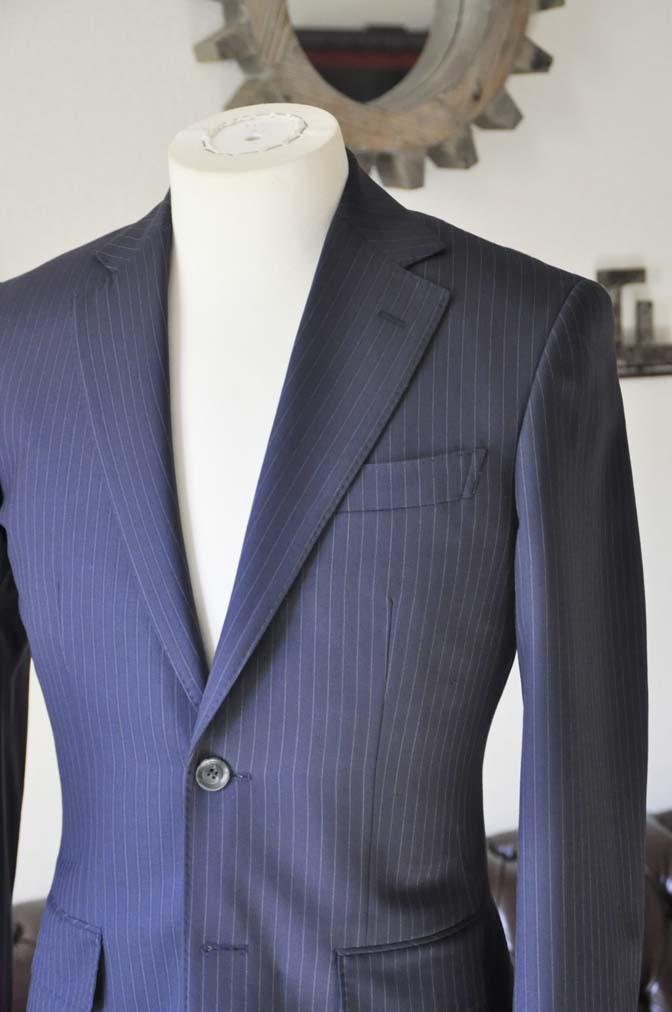 DSC0430-2 お客様のスーツの紹介-ネイビーストライプスーツ-