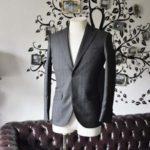 お客様のジャケットの紹介-Biellesi グレーヘリンボーンジャケット-