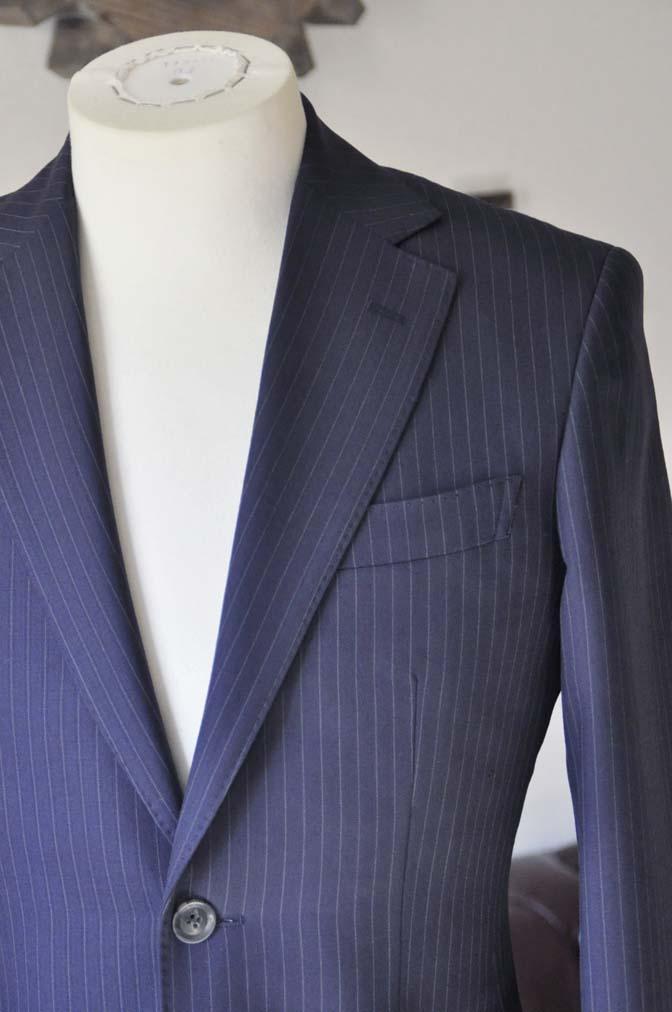 DSC0431-4 お客様のスーツの紹介-ネイビーストライプスーツ-