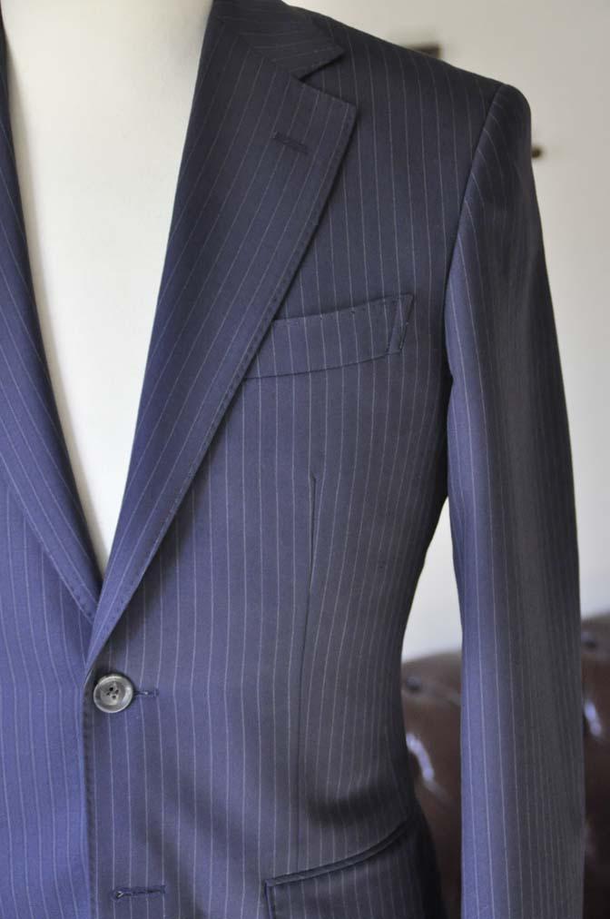 DSC0432-4 お客様のスーツの紹介-ネイビーストライプスーツ-