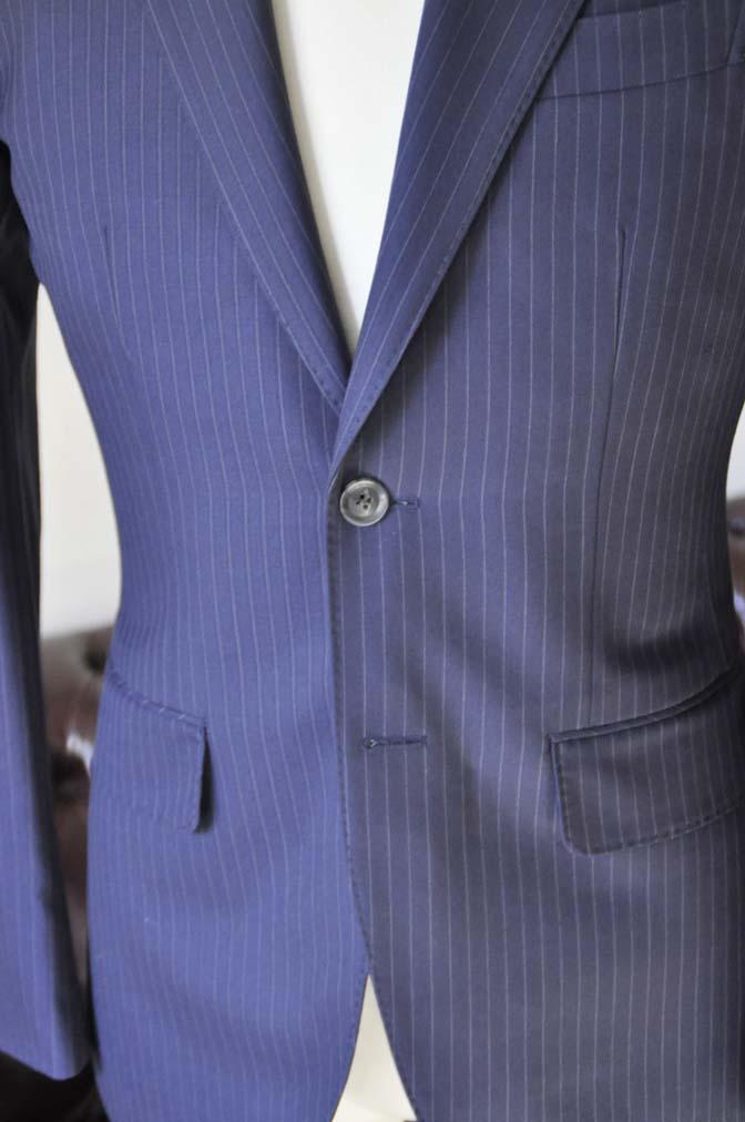 DSC0433-3 お客様のスーツの紹介-ネイビーストライプスーツ-