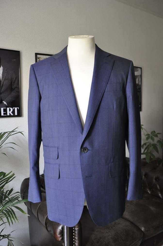 DSC04332 お客様のスーツの紹介-Biellesi ネイビーウィンドペン- 名古屋の完全予約制オーダースーツ専門店DEFFERT