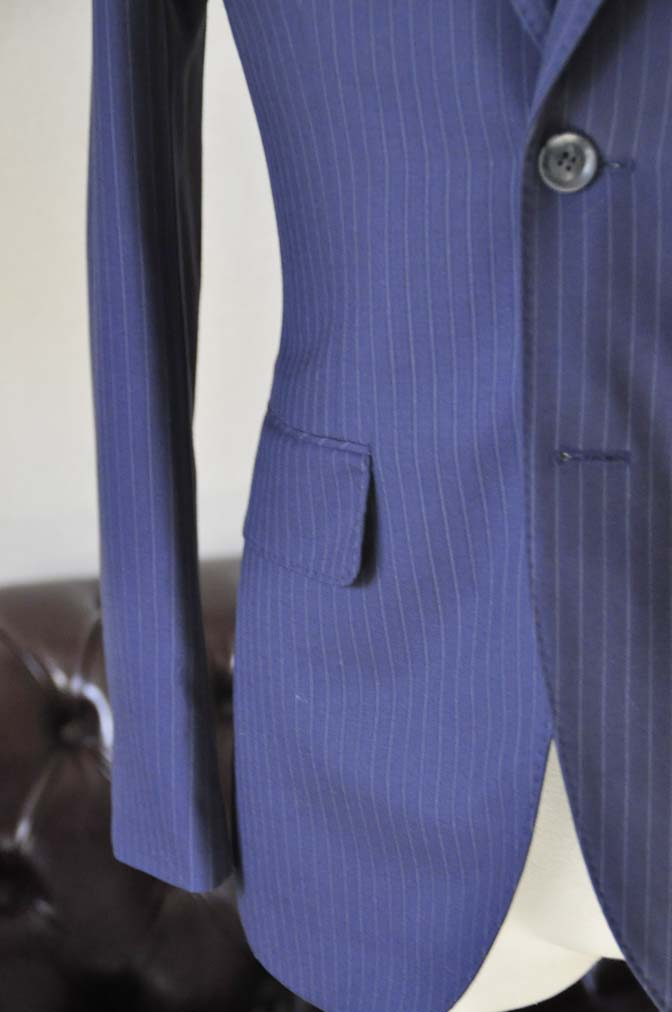 DSC0434-3 お客様のスーツの紹介-ネイビーストライプスーツ-