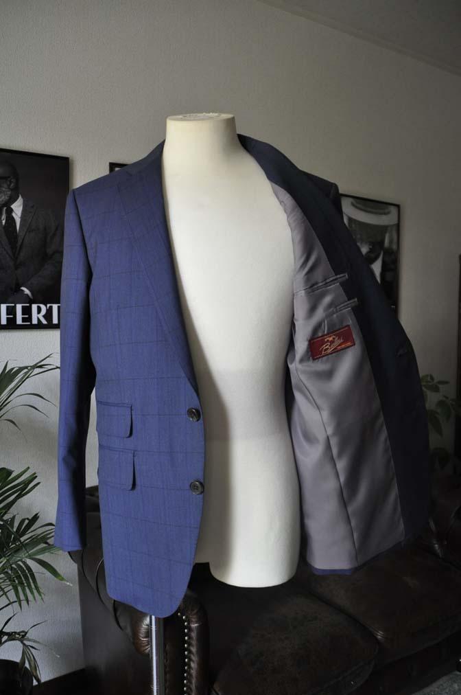 DSC04341 お客様のスーツの紹介-Biellesi ネイビーウィンドペン- 名古屋の完全予約制オーダースーツ専門店DEFFERT