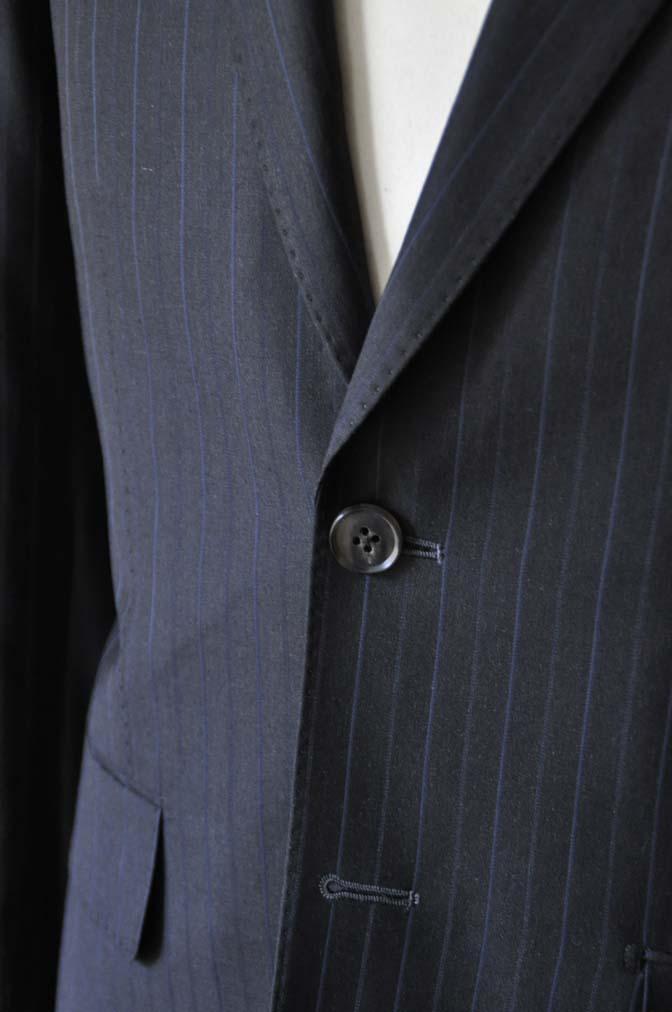 DSC0435-1 お客様のスーツの紹介- Biellesi ネイビーストライプスーツ-
