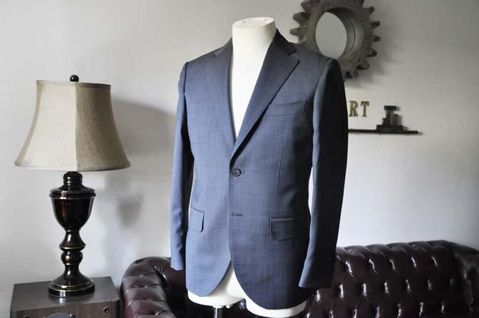 DSC0435-2 お客様のスーツの紹介- Biellesi 無地ネイビースーツ-