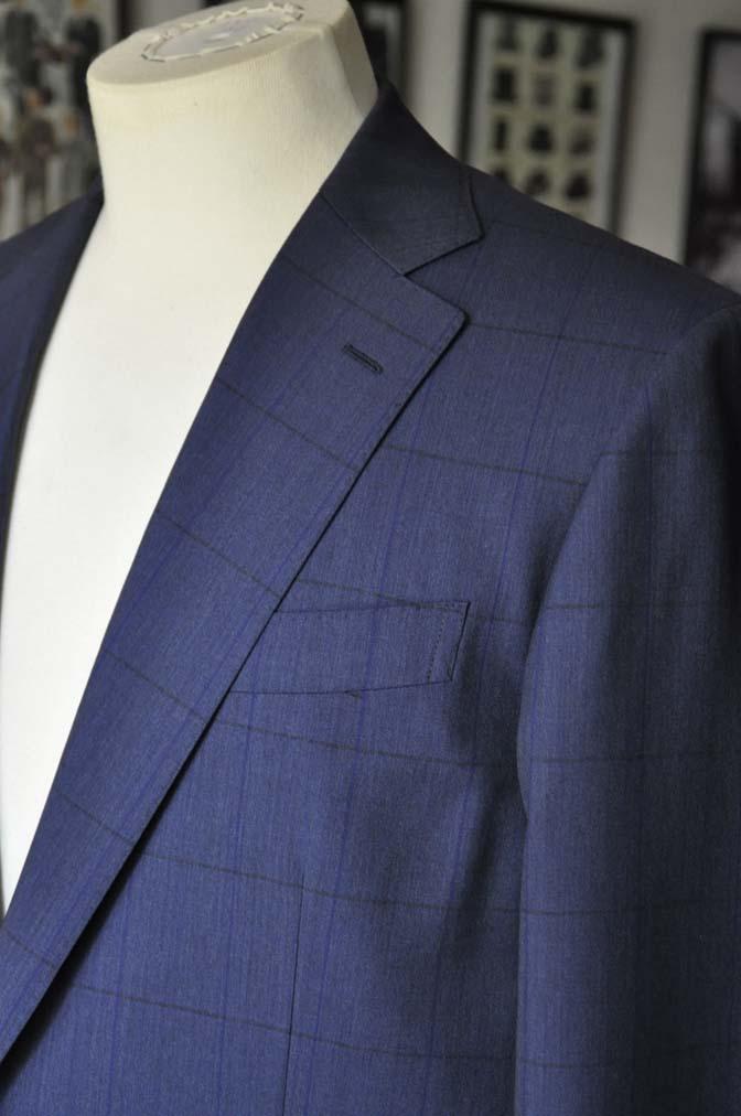 DSC04361 お客様のスーツの紹介-Biellesi ネイビーウィンドペン- 名古屋の完全予約制オーダースーツ専門店DEFFERT