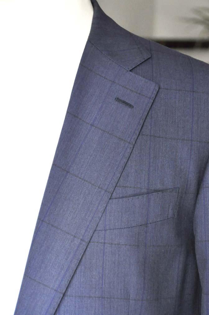 DSC0437 お客様のスーツの紹介-Biellesi ネイビーウィンドペン- 名古屋の完全予約制オーダースーツ専門店DEFFERT