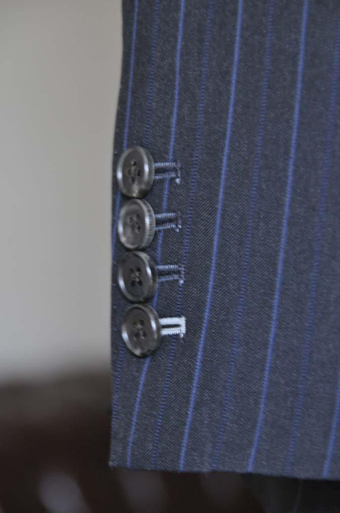 DSC0438-1 お客様のスーツの紹介- Biellesi ネイビーストライプスーツ-