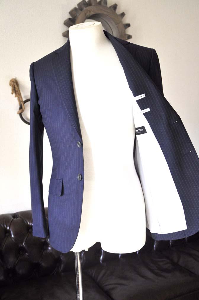 DSC0438-4 お客様のスーツの紹介-ネイビーストライプスーツ-