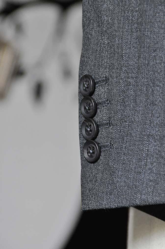 DSC0438-5 お客様のジャケットの紹介-Biellesi グレーヘリンボーンジャケット- 名古屋の完全予約制オーダースーツ専門店DEFFERT