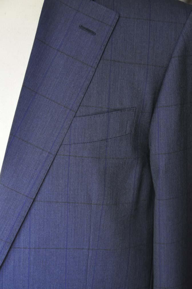DSC04382 お客様のスーツの紹介-Biellesi ネイビーウィンドペン- 名古屋の完全予約制オーダースーツ専門店DEFFERT