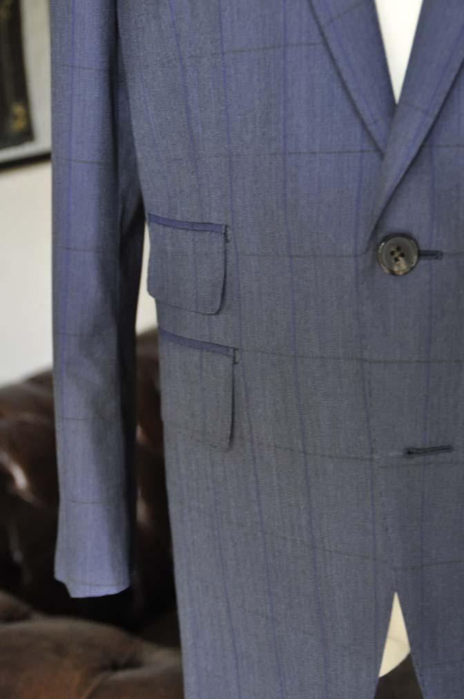 DSC04401 お客様のスーツの紹介-Biellesi ネイビーウィンドペン- 名古屋の完全予約制オーダースーツ専門店DEFFERT