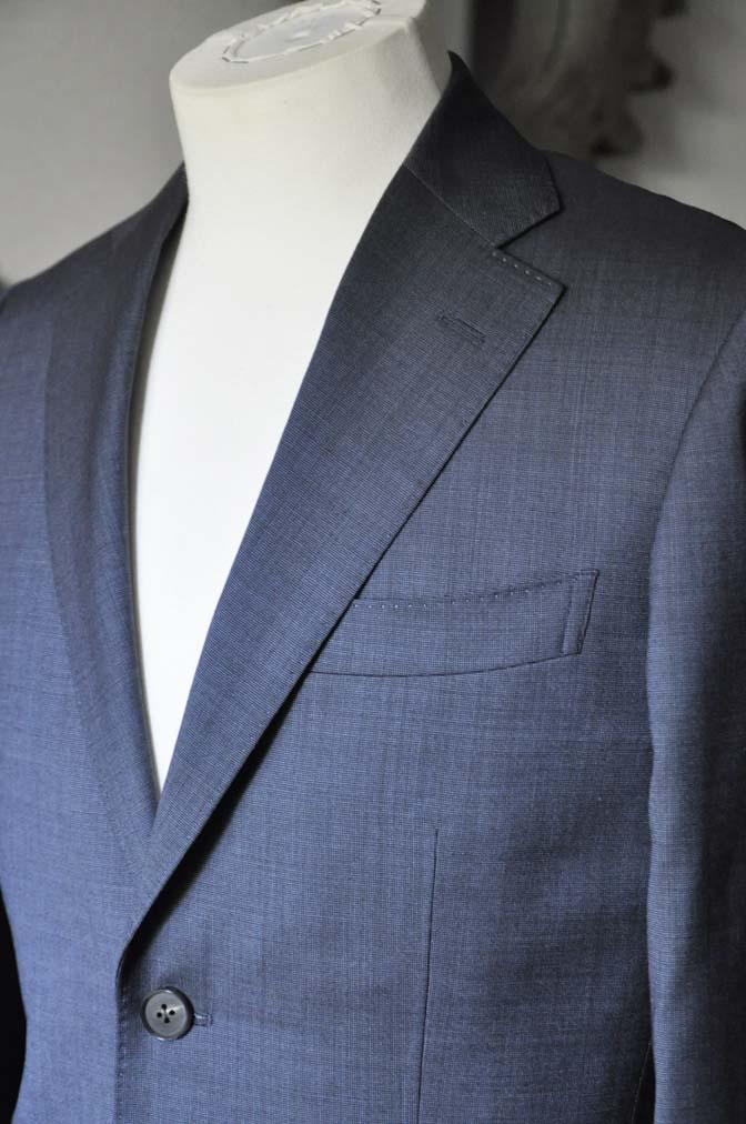 DSC0442-4 お客様のスーツの紹介- Biellesi 無地ネイビースーツ-