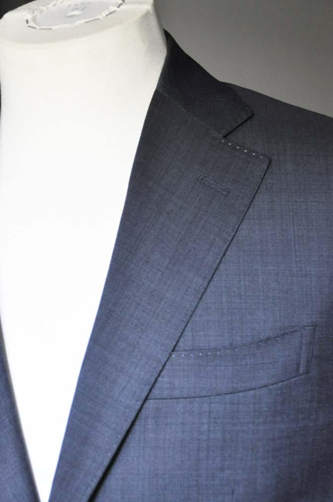 DSC0443-2 お客様のスーツの紹介- Biellesi 無地ネイビースーツ-