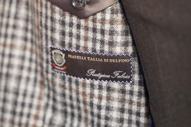 DSC04452 オーダージャケットの紹介- Tallia Di Delfinoブラウンチェックジャケット-