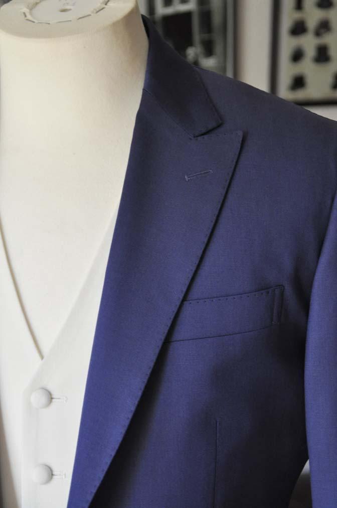 DSC0446-1 お客様のウエディング衣装の紹介- Biellesi ネイビースーツ ホワイトベスト-