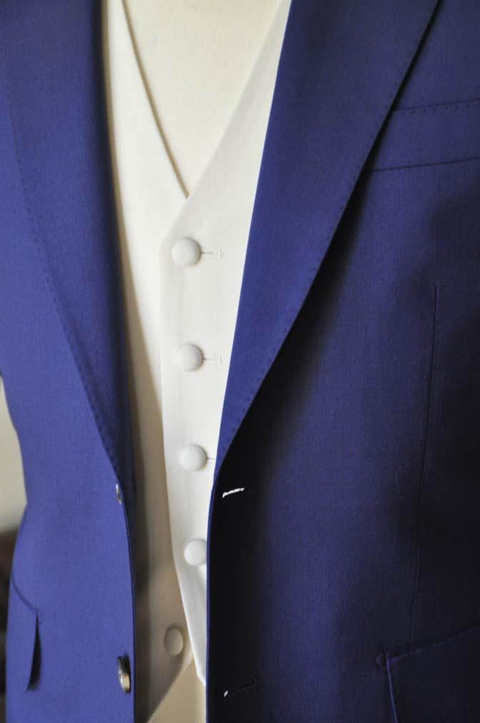 DSC0448-1 お客様のウエディング衣装の紹介- Biellesi ネイビースーツ ホワイトベスト-