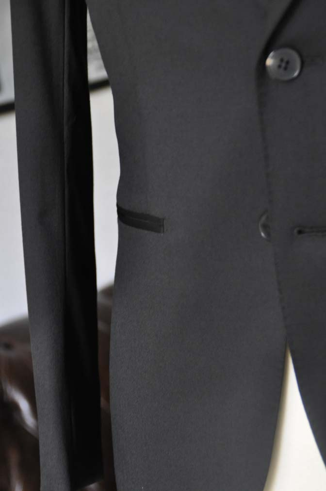 DSC04501 お客様のスーツの紹介-Biellesi ブラックスーツ-