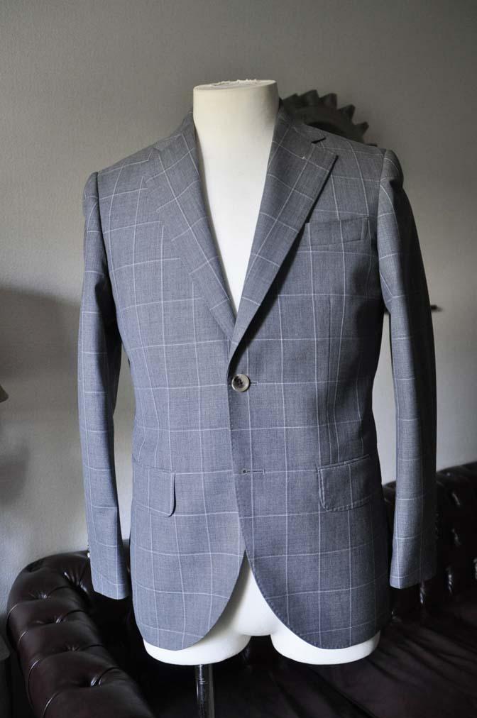DSC0452-2 お客様のスーツの紹介- DARROW DALE グレーウィンドペン-