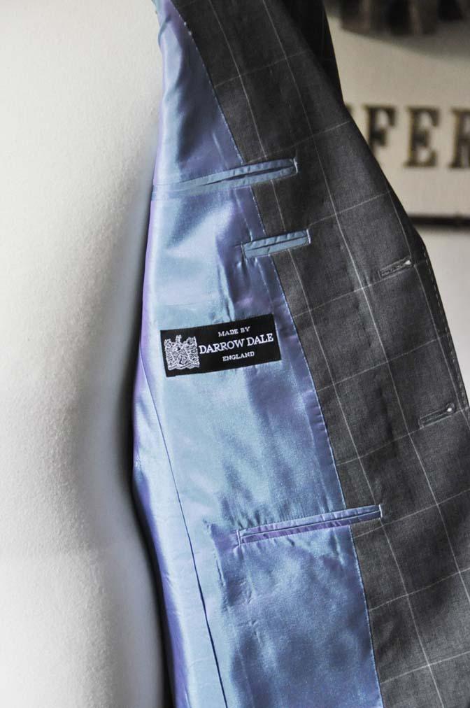 DSC0454 お客様のスーツの紹介- DARROW DALE グレーウィンドペン-