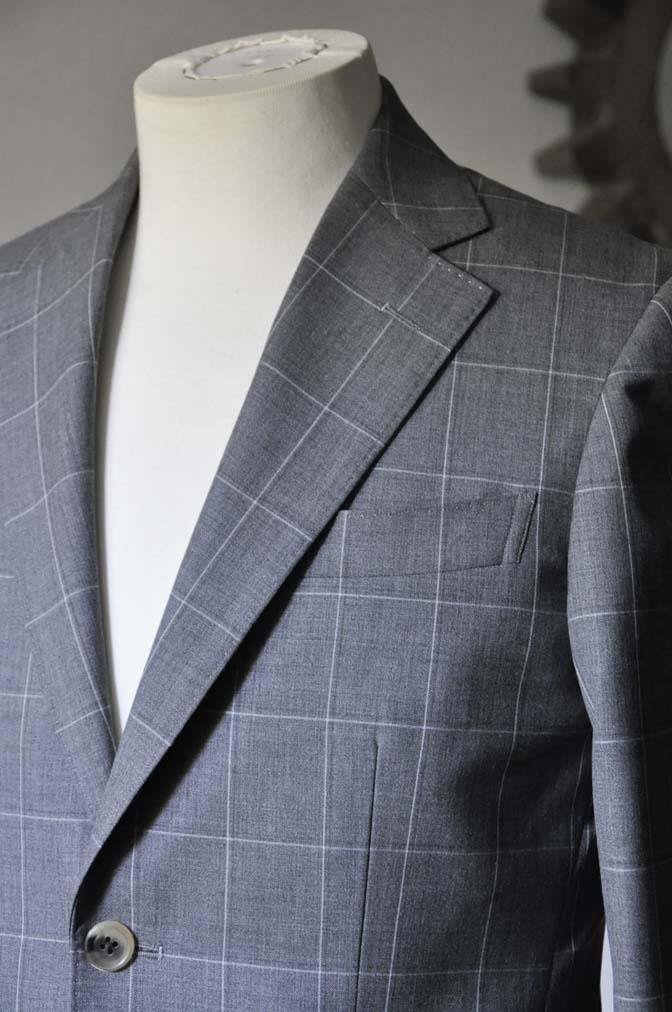 DSC0456-1 お客様のスーツの紹介- DARROW DALE グレーウィンドペン-