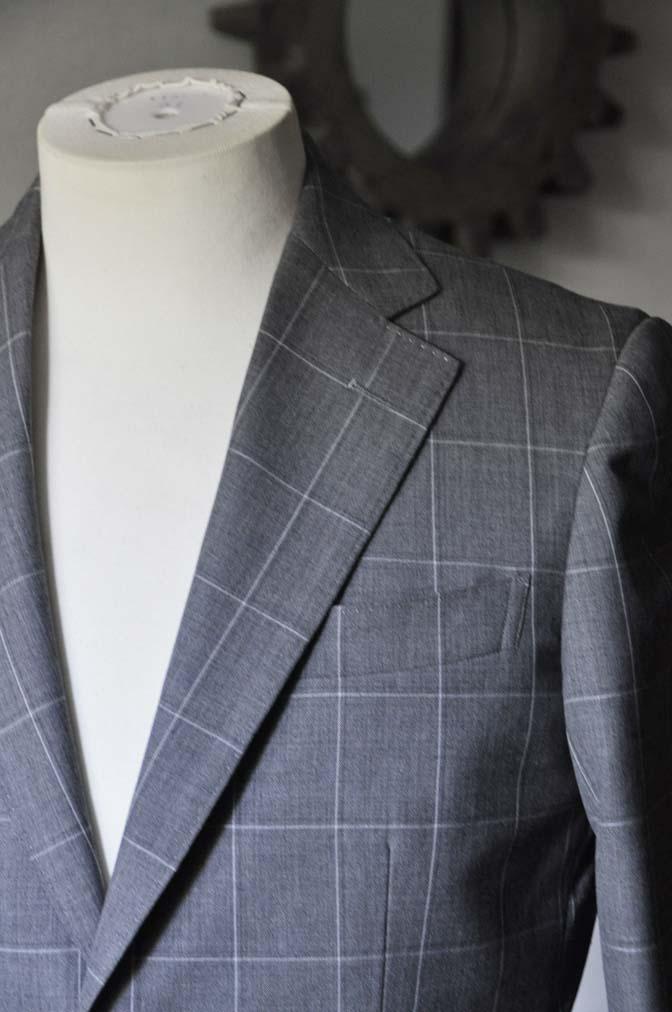 DSC0457 お客様のスーツの紹介- DARROW DALE グレーウィンドペン-