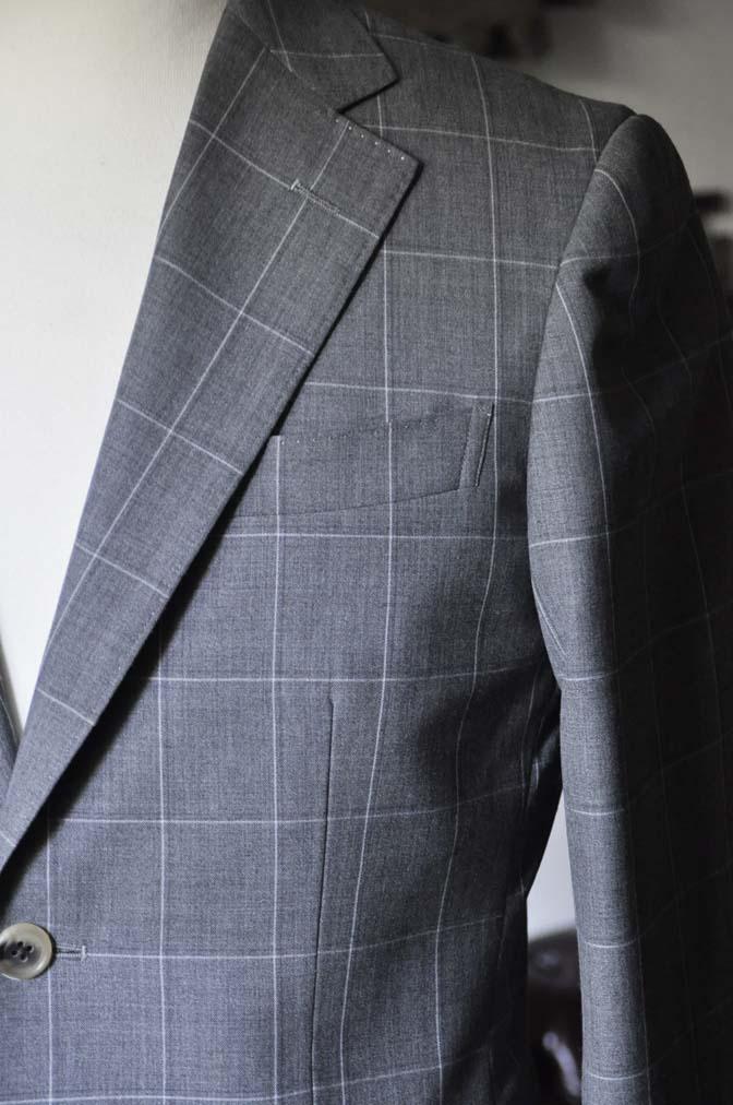 DSC0458-1 お客様のスーツの紹介- DARROW DALE グレーウィンドペン-