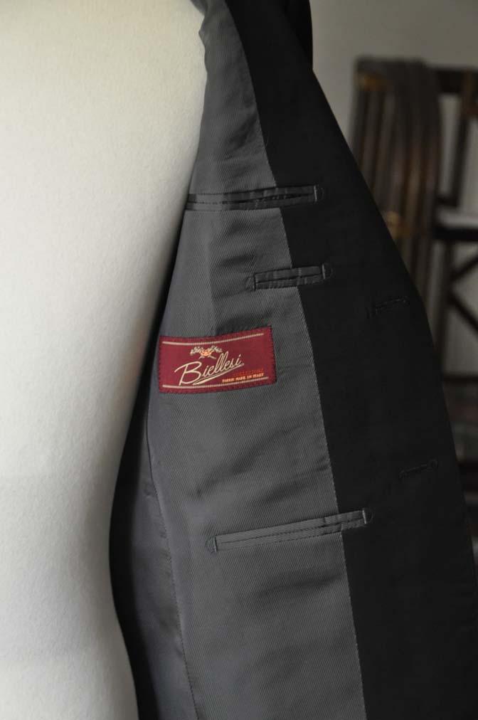 DSC04591 お客様のスーツの紹介-Biellesi ブラックスーツ-