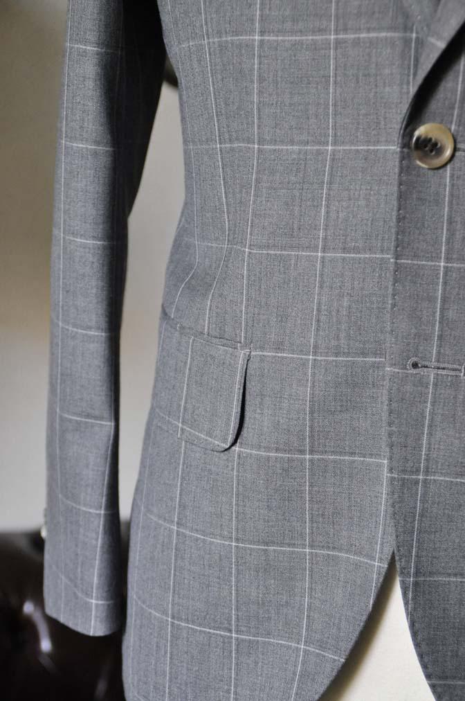 DSC0460-1 お客様のスーツの紹介- DARROW DALE グレーウィンドペン-