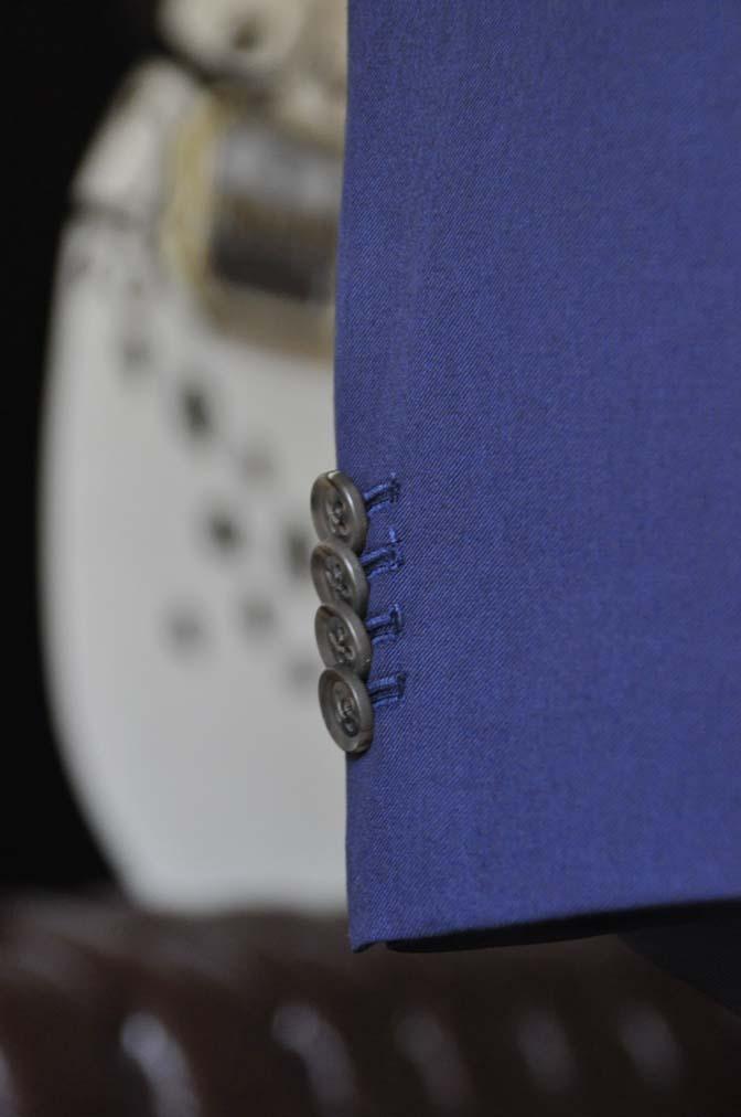 DSC0460-5 お客様のウエディング衣装の紹介- Biellesi無地ネイビースーツ 千鳥格子ベスト- 名古屋の完全予約制オーダースーツ専門店DEFFERT